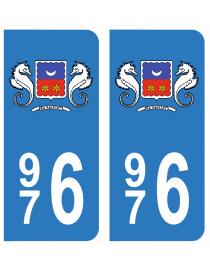 Paire Sticker immatriculation 85 Vend/ée