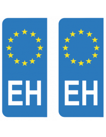 Autocollants plaque immatriculation EH Pays Basque