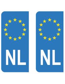 Autocollants plaque immatriculation NL Pays-Bas