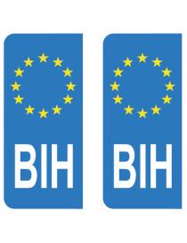 Autocollants plaque immatriculation BIH Bosnie-Herzégovine
