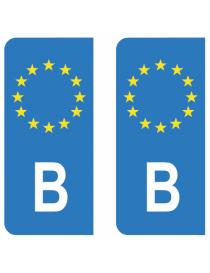 Autocollants plaque immatriculation OC Occitanie