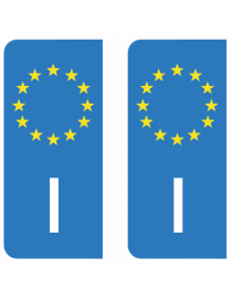 Autocollants plaque immatriculation B Belgique