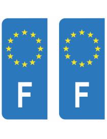 Autocollants plaque immatriculation I Italie
