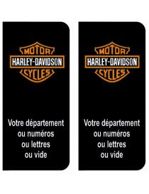 Autocollants plaque immatriculation Harley Davidson