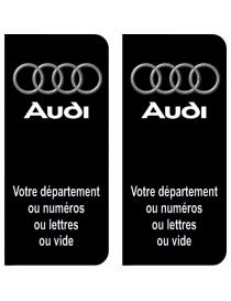 Autocollants plaque immatriculation Audi