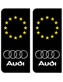 Autocollants plaque immatriculation Audi Europe