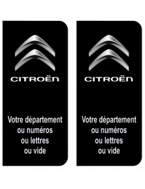 Autocollants plaque immatriculation Citroen