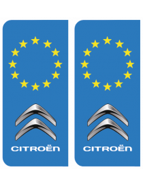 Autocollants plaque immatriculation BMW Europe