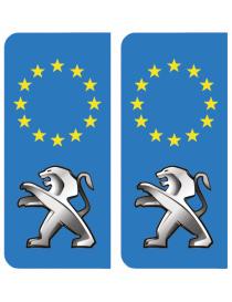 Autocollants plaque immatriculation Citroen Europe