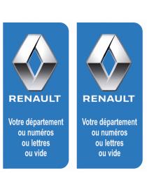 Autocollants plaque immatriculation Peugeot
