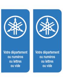 Autocollants plaque immatriculation Renault