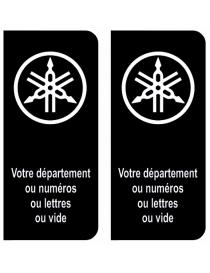 Autocollants plaque immatriculation Yamaha