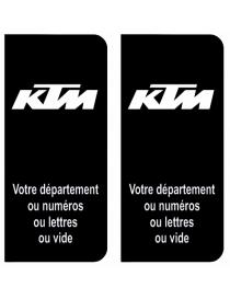 Autocollants plaque immatriculation KTM