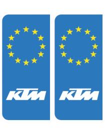 Autocollants plaque immatriculation Yamaha Europe