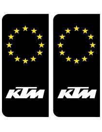 Autocollants plaque immatriculation KTM Europe