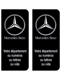 Autocollants plaque immatriculation Mercedes