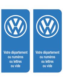 Autocollants plaque immatriculation Volkswagen