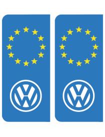 Autocollants plaque immatriculation Mercedes Europe