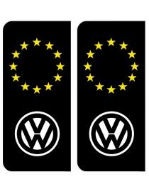 Autocollants plaque immatriculation Volkswagen Europe