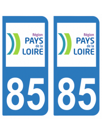 Autocollants plaque immatriculation 85 Vendée