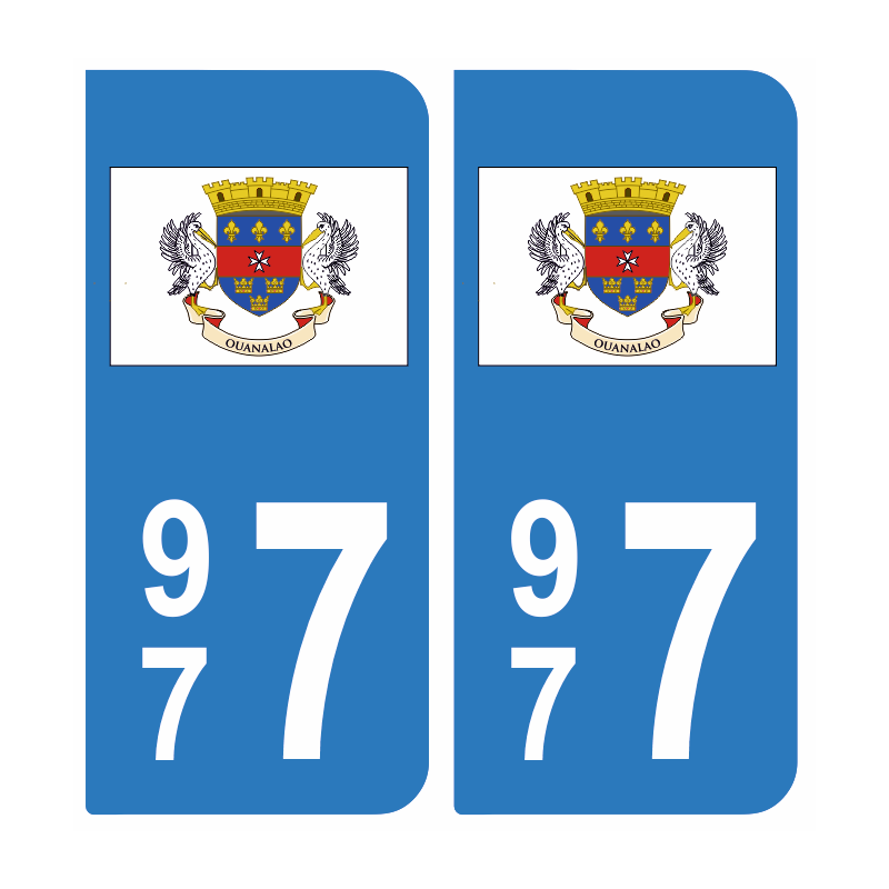 Centre Val de Loire Paire Autocollant plaque immatriculation 37